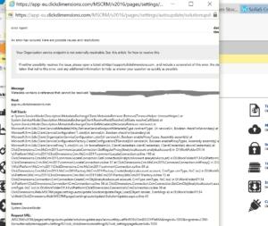 Dynamics 365 onpremise och ClickDimensions – vänta vänta vänta med att uppdatera!