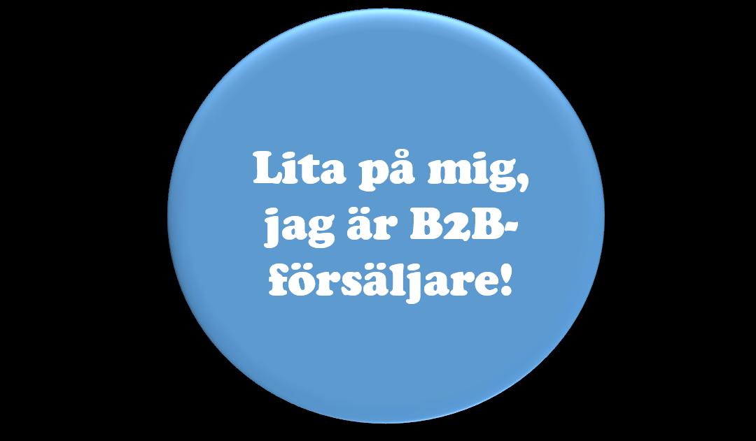 Välvilja viktigt i framtidens B2B-försäljning
